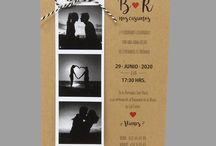 Invitaciones de Boda / Invitaciones de Boda originales, creativas, rusticas, vintage, con personajes
