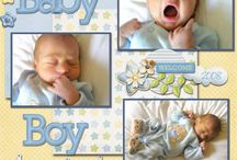 Baby boy scrap book ideas