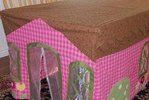 casinha toalha de mesa