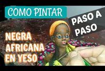 video para pintar negritas africanas