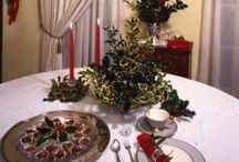 Mantel & Table Decor / Decorate your mantel and tables throughout your home with natural, traditional Christmas holly pieces and accents.