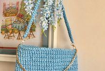 Penye ipten çanta ve sepetler
