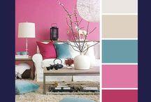 Paduan Warna pada Ruang Tamu / Gambar diambil dari berbagai sumber