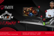 Enter This #PewDiePie #Gaming #Giveaway! Win A #GTX1080, ASUS 4K #eSports Monitor, #Gamer Desk And So Much More!