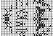 ✘✘Point de croix GrillesCross stitch ✘✘ / Broderie Point de Croix Point compté Cross stitch / by ಌ༺༻⊰✿ Valérie Penty ✿⊱༺༻ಌ