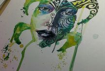 Painting artist models