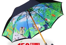 Umbrellas / cheap umbrellas for sale online from China taobao store, Hayao Miyazaki chinchilla umbrella, japan umbrellas.