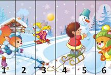 zimné puzzle