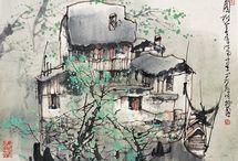 Ли Маошан Городской пейзаж