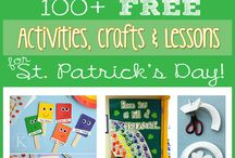 St. Patrick's Day / Fun and creative St. Patrick's Day activities, worksheets, lesson plans, coloring pages, bulletin board ideas, and more for preschool, kindergarten, and elementary grades!