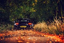 Cars in autumn