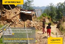 LET THE PEOPLE TALK TESTIMONIES / Call to witness, after the earthquakes in Nepal.