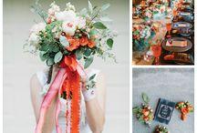 Bodas color naranja / Combinaciones perfectas para ese día tan especial.  / by Revista Nupcias