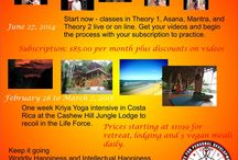 Kriya Yoga Spiritual Advance / A Spiritual Advance is a Spiritual Retreat that allows you to start collecting dividends before you actually attend the Retreat. Start now by taking Kriya Yoga Classes, watching your videos, and sign up for the Retreat in Costa Rica; February 28 to March 7 2015 at Cashew Hill Jungle Lodge.