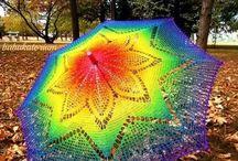 Háčkování deštník