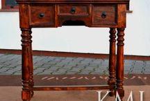 konsole / Drewniane konsola do przedpokoju lub do salonu. Stylowo eleganckie, loftowe i industrialne ze starego drewna i metalu ale również indyjskie, kolonialne i vintage. W intensywnych kolorach lub naturalne i bielone. Zawsze piękne i unikatowe.
