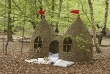 woven playhouses / weaving, natural building techniques, solar passive playhouses