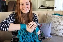 Arm knitting and braided bracelets