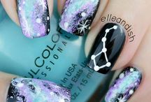 Nail Art: Galaxy / Look at the stars, look how they shine for you!  Try some galaxy nails to keep things glowing.