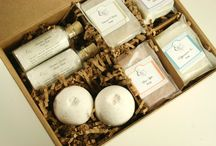 Holiday Bath Gifts / Natural bath and body gifts ready for gifting