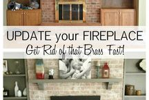 Brick fireplace / by Lacey Pack
