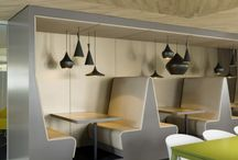 Cafe / Cafe, break room, booths, tables