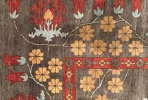 Arts And Crafts Style Carpets / Authentic reproductions of Arts & Crafts rug patterns. Handknotted, made from New Zealand wool using Swiss Chrome dyes, to ensure color-fastness and consistent color from rug to rug.