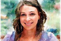watercolor - faces