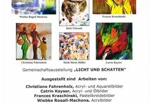 My Exhibitions and Workshops - Meine Ausstellungen & Kurse / Auf dieser Seite stelle ich euch meine Ausstellungen vor und Workshops, die ich gebe. On this page I show you my exhibitions and my painting workshops.