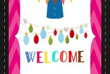 Classroom Banners / Classroom Banners to Make your Classroom Come Alive with the Infusion of Color, Aesthetics and FUN.