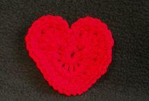 Inimioare crosetate