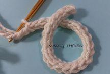 cordão de crochet