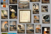 Collages / Barbmama Design & Vintage verkoopt meubels, speciale, unieke, vintage, retro, mid-century en  bijzondere objecten die hebben geleefd en beleefd. Barbmama streeft naar duurzaam behoud van  Design & Vintage meubels en objecten die hebben geleefd en beleefd.
