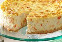 Savory cheesecakes