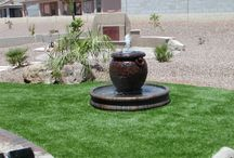 Earth Awareness / Water conservation, earth friendly and recycled materials used in landscapes
