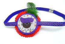 Sint en Piet haaraccessories / Haarspeldjes, haarbandjes,diademen van Sint en Zwarte Piet