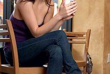 Vrouw koffie drinkend