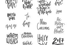 christmas cards calligraphy
