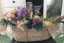 Cestas flores preservadas