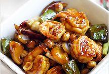 Asian Shrimp dishes / Shrimp dishrs