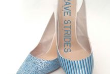 Brides Strides / Hand painted wedding shoes by Brave Strides