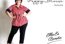 2015 - Peggy Blouse / Blouse which specially designed for sophisticated curvy women originally made by Indonesian Designer & Local Brand: Ella Es Bonita.