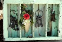 Vintage key display ideas