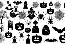 Halloween Vector Silhouette / Halloween Vector Silhouette