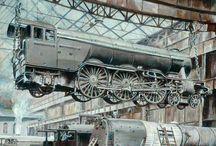 Steam Locomotives Old Photo