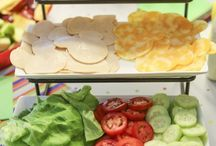Fixins / Toppings, condiments, veggies, and more.