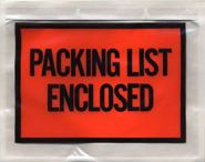 "Packing List Envelopes / Standard Packaging Envelopes sizes range from 4.5"" x 5.5"" to 9.5"" x 12"" and custom sizes can range from 3"" x 4"" up to 15"" x 14."" Choose to hide or show a document with a Full Face or Panel Print"