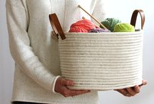 Korb aus Seilen