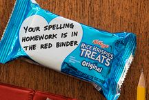 Fun Lunch Box Ideas / Pack a fun lunch that'll put a smile on your kid's face! Rice Krispies Treats has quick and easy lunch box ideas to help you sweeten  up the school  day —with encouraging  notes,  helpful reminders,  and more!  Perfect  for lunchrooms  and after school snacks, there's room on every wrapper for you to share your love.
