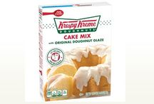 Krispy Kreme Cake Mix / A new type of sweet treat is now available to make at home. Krispy Kreme Doughnuts today announced a new Betty CrockerTM Cake Mix with Krispy Kreme Doughnuts' Original Glazed® flavor. This kit will be available in select Wal-Mart, Supervalu and Kroger stores in the United States.